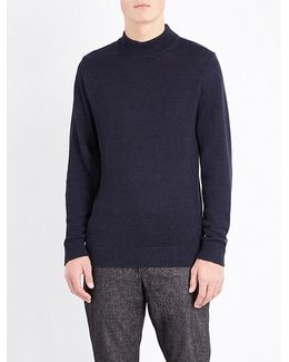 Brad High Neck Knitted Jumper