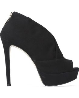 Giovanni Suede Heeled Shoe Boots
