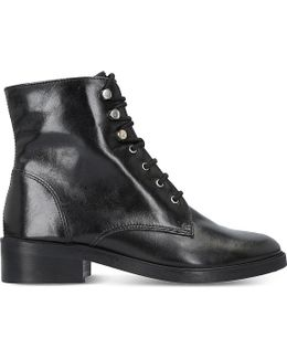 Skewer Leather Boots