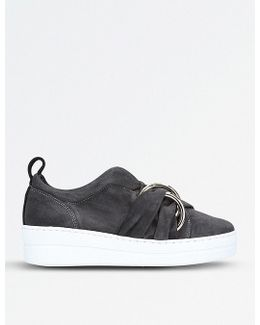 Lotty Suede Flatform Trainers