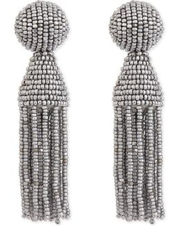 Classic Beaded Tassel Clip-on Earrings