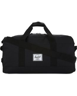 Black Striped Luxury Outfitter Duffle Bag