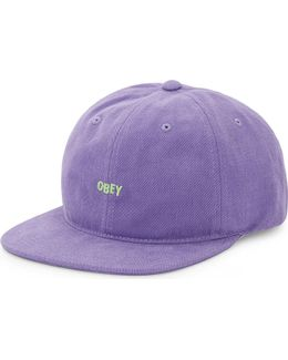 New Deal Embroidered Cotton Snapback Cap