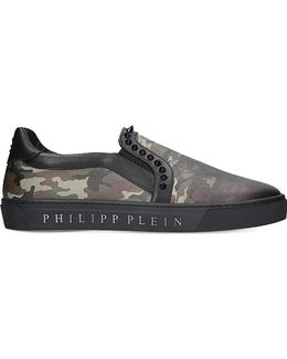 Kobe Camouflage-print Leather Skate Shoes