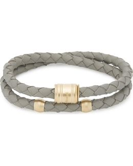 Casing Double-wrap Leather Bracelet