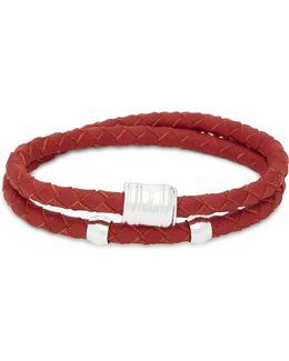 Casing Double-wrap Leather Bracelet