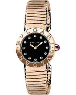 - Tubogas 18ct Pink-gold And Diamond Watch