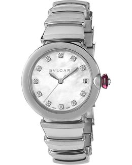 Lvcea Stainless Steel And Diamond Watch