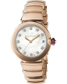 Lvcea 18ct Pink-gold And Diamond Watch