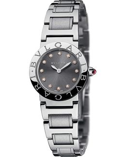 - Stainless Steel And Diamond Watch