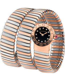 Bulgari Bulgari 18ct Pink-gold And Diamond Watch
