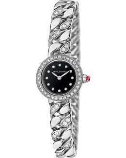 - Piccola Catene 18ct White-gold And Diamond Watch