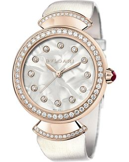 Divas' Dream 18kt Pink-gold And Diamond Watch