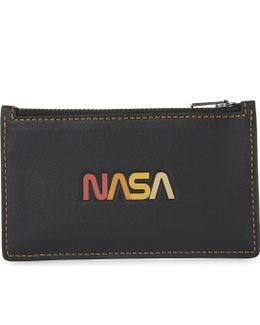 Nasa Leather Card Holder