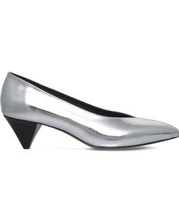 Poomi Metallic-leather Court Shoes