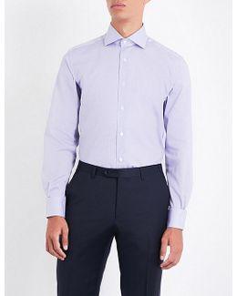 Mini Gingham Regular-fit Cotton-poplin Shirt