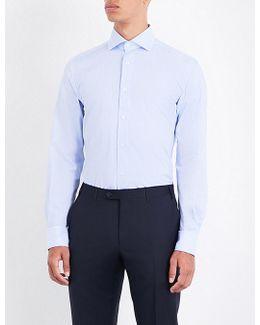 Fine Stripe Regular-fit Cotton-poplin Shirt