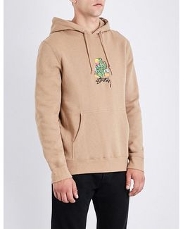 Cactus-embroidered Cotton-jersey Hoody