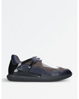 Avion Leather And Mesh Trainers