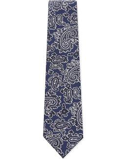 Metallic Paisley Silk Tie