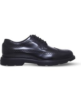 H304 New Route Leather Derby Shoes