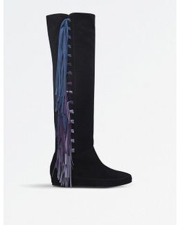 Fringe Over-the-knee Suede Boots