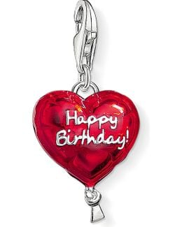 Charm Club Silver And Enamel Happy Birthday Charm