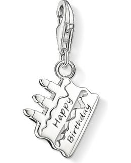 Charm Club Silver Birthday Cake Charm