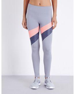 Mirror Striped Stretch-jersey Leggings