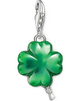 Charm Club Silver And Enamel Cloverleaf Balloon Charm