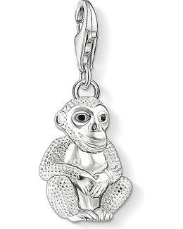 Charm Club Silver 3d Monkey Charm