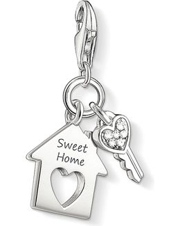 Charm Club Silver And Zirconia Sweet Home Charm