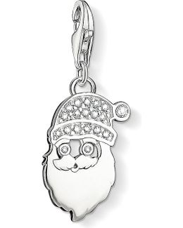 Charm Club Silver And Zirconia Santa Claus Charm