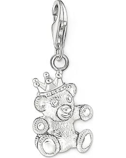Charm Club Silver Teddy Bear Charm