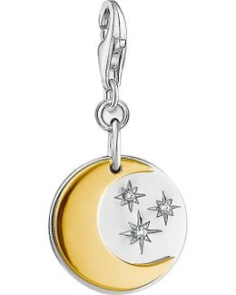 Moon And Stars 18ct Gold-plated And Sterling Silver Charm