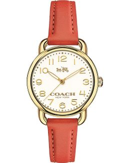 14502253 Dalaney Gold-plated Stainless Steel And Leather Watch