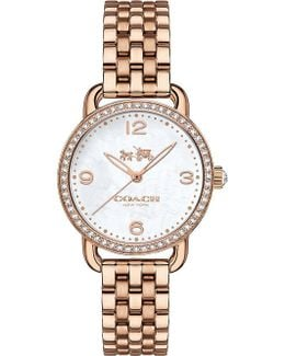 14502479 Delancey Stainless Steel And Mother Of Pearl Watch