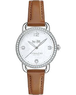 14502485 Delancey Leather And Mother-of-pearl Watch