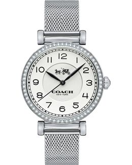 Stone-set Stainless Steel Watch