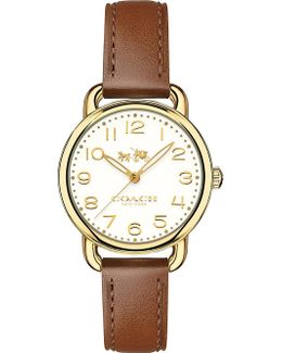 14502706 Delancey Gold And Leather Watch