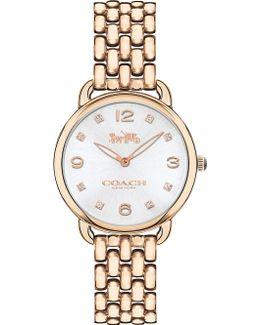14502783 Delancey Slim Rose Gold-plated Watch