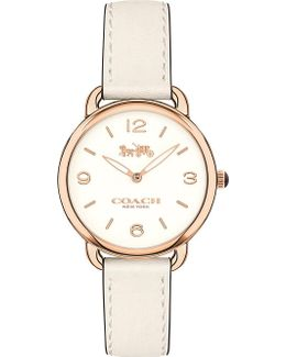 14502790 Delancey Slim Rose Gold-plated And Leather Watch