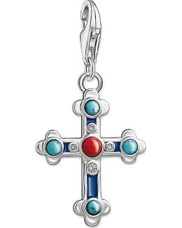 Charm Club Cross Silver Charm Pendant