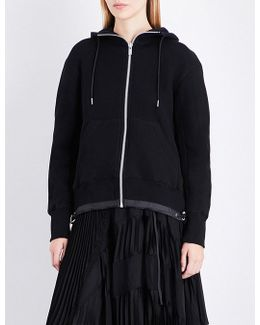 Branded Cotton-jersey Hoody
