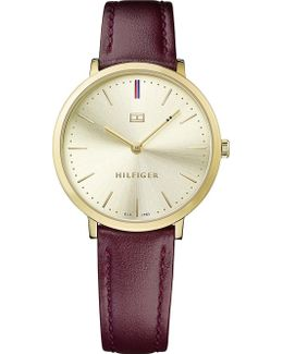 1781692 Pippa Pvd Gold-plated Leather Watch