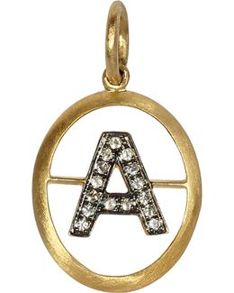 18ct Yellow-gold And Diamond A Pendant