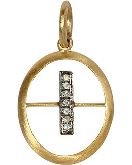 18ct Yellow-gold And Diamond I Pendant