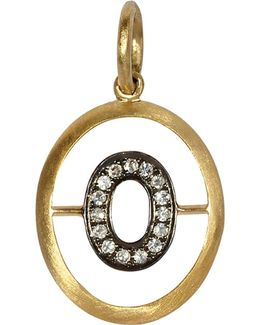 18ct Yellow-gold And Diamond O Pendant