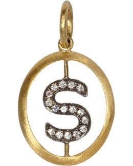 18ct Yellow-gold And Diamond S Pendant