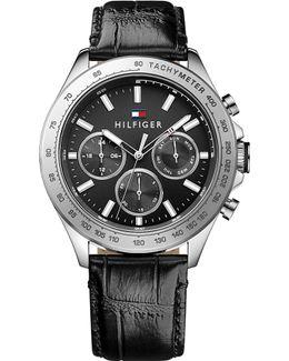 1791224 Hudson Croc-effect Leather Watch